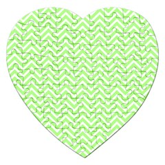 Green Chevron Jigsaw Puzzle (heart)