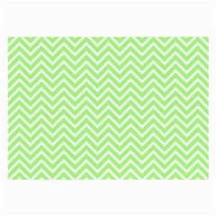 Green Chevron Large Glasses Cloth