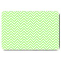 Green Chevron Large Doormat