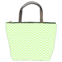 Green Chevron Bucket Bags