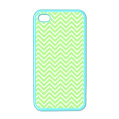 Green Chevron Apple Iphone 4 Case (color)