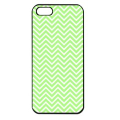 Green Chevron Apple Iphone 5 Seamless Case (black)