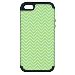 Green Chevron Apple Iphone 5 Hardshell Case (pc+silicone)
