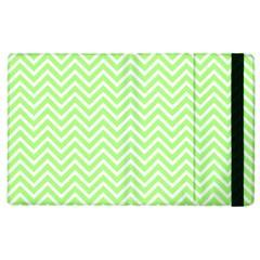 Green Chevron Apple Ipad 3/4 Flip Case