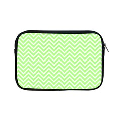 Green Chevron Apple Ipad Mini Zipper Cases