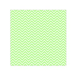 Green Chevron Small Satin Scarf (square)