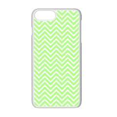 Green Chevron Apple Iphone 7 Plus Seamless Case (white)