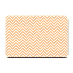 Orange Chevron Small Doormat