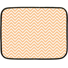 Orange Chevron Fleece Blanket (mini)