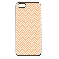 Orange Chevron Apple Iphone 5 Seamless Case (black)