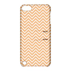 Orange Chevron Apple Ipod Touch 5 Hardshell Case With Stand
