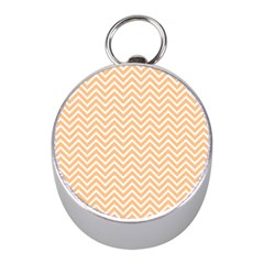 Orange Chevron Mini Silver Compasses