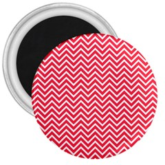 Red Chevron 3  Magnets