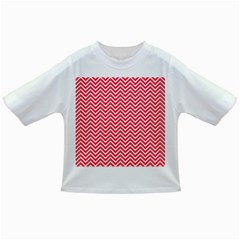 Red Chevron Infant/toddler T Shirts