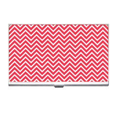 Red Chevron Business Card Holders