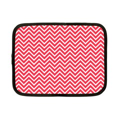 Red Chevron Netbook Case (small)
