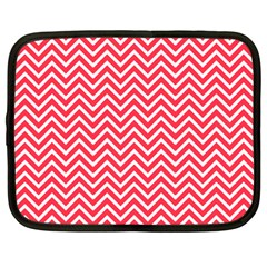 Red Chevron Netbook Case (large)