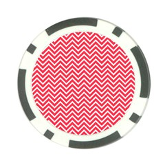 Red Chevron Poker Chip Card Guard (10 Pack)