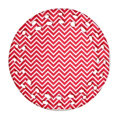 Red Chevron Ornament (round Filigree)
