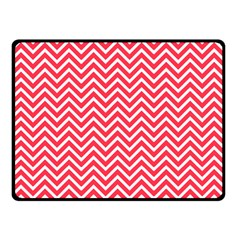 Red Chevron Double Sided Fleece Blanket (small)