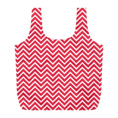 Red Chevron Full Print Recycle Bags (l)
