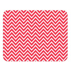 Red Chevron Double Sided Flano Blanket (large)