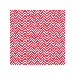 Red Chevron Small Satin Scarf (square)
