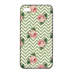 Green Chevron Rose Apple Iphone 4/4s Seamless Case (black)