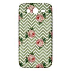 Green Chevron Rose Samsung Galaxy Mega 5 8 I9152 Hardshell Case