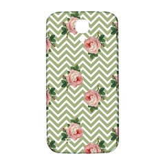 Green Chevron Rose Samsung Galaxy S4 I9500/i9505  Hardshell Back Case