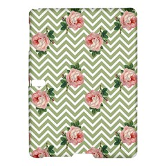 Green Chevron Rose Samsung Galaxy Tab S (10 5 ) Hardshell Case