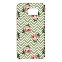 Green Chevron Rose Galaxy S6