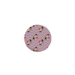 Violet Chevron Rose 1  Mini Buttons