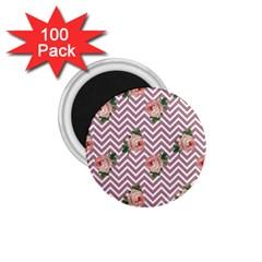 Violet Chevron Rose 1 75  Magnets (100 Pack)