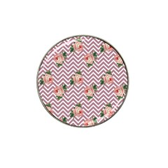 Violet Chevron Rose Hat Clip Ball Marker (4 Pack)