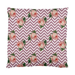 Violet Chevron Rose Standard Cushion Case (one Side)