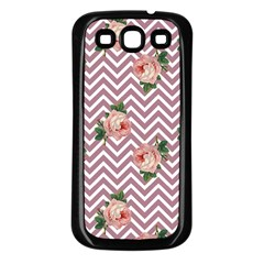 Violet Chevron Rose Samsung Galaxy S3 Back Case (black)