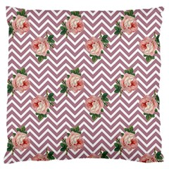 Violet Chevron Rose Standard Flano Cushion Case (two Sides)
