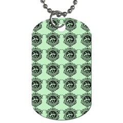 Three Women Green Dog Tag (two Sides)