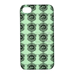 Three Women Green Apple Iphone 4/4s Hardshell Case With Stand