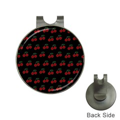 Cherries Black Hat Clips With Golf Markers