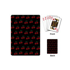 Cherries Black Playing Cards (mini)