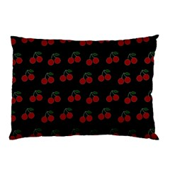 Cherries Black Pillow Case (two Sides)