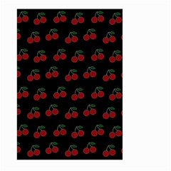 Cherries Black Large Garden Flag (two Sides)