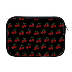 Cherries Black Apple Macbook Pro 17  Zipper Case