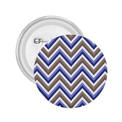 Chevron Blue Beige 2 25  Buttons