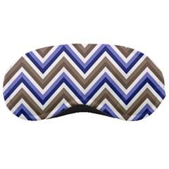 Chevron Blue Beige Sleeping Masks