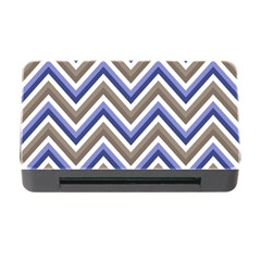 Chevron Blue Beige Memory Card Reader With Cf
