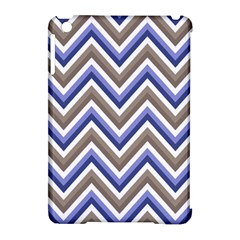 Chevron Blue Beige Apple Ipad Mini Hardshell Case (compatible With Smart Cover)