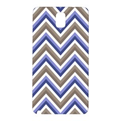 Chevron Blue Beige Samsung Galaxy Note 3 N9005 Hardshell Back Case